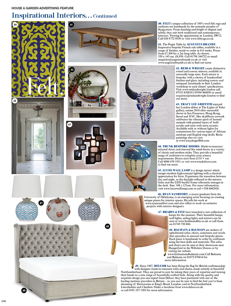 Lucio Wall Lamp in House & Garden Magazine
